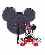 "DISNEY-MINNIE MOUSE w/HEAD SHAPE(4"")Simplicity Iron On Applique/Movies,TV"