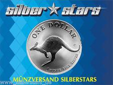 1 AU Dollar Silber Känguru BU in Kapsel Kangaroo 1998 1 OZ Silver