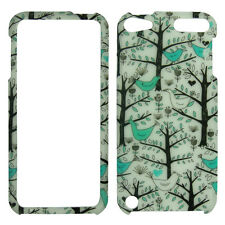 Blue Bird Tree for Apple iPod Touch 6 6th Gen  Rubberized  Case Cover .