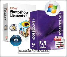Adobe Golive 9 + Photoshop Elements 6.0, Go Live 9.0, Win