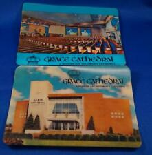 Vintage Lot of 2 Unused Grace Cathedral Akron Ohio Lenticular Postcards