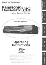 Panasonic PV-8451 VCR Owners Instruction Manual