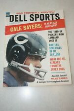 Gale Sayers Autographed Dell Sports Magazine No, 58-September 1967
