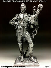 Colonel Guards Dragoons. France Tin toy soldier 54 mm figurine metal sculpture