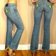 Antik Denim Wild West Pkt Embroidery Bootcut Low Rise Jeans in Medium 24 25