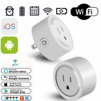 Mini Wi-Fi Outlet Plug Smart Switch Works with Echo Alexa Remote Control US Plug
