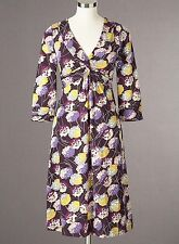 NEW ORG $118 BODEN FIG MARIGOLD TWIST FRONT JERSEY DRESS - SIZE US 4L