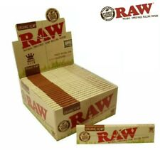 RAW ORGANIC Hemp King Size Slim Genuine Natural Unrefined Rolling Papers 5 10 20