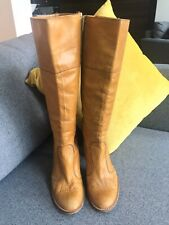 Topshop Brown Heeled Boots Size 6