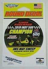 "2019 Indy 500 103 RD Champion IMS May Sweep Simon Pagenaud Team Penske Decal 3"""
