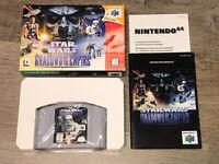 Star Wars Shadows of the Empire Nintendo 64 N64 Complete CIB Near Mint Condition