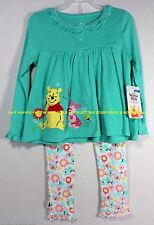 BABY Girls PIGLET & POOH Long Sleeve TOP w/ LEGGINGS > 6 - 9 Mths Ships Today!
