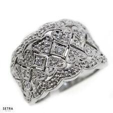 Antique Heart Style 14k Fine Gold sparkly Genuine Diamond Ring