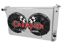 "3 Row AAR Radiator, 12"" Fans, Shroud for 1982 - 1992 Chevy Camaro (Manual Trans)"