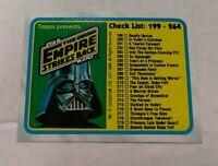 1980 Topps Star Wars: The Empire Strikes Back #264 Checklist: 199-264 NM