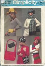 S 8468 sewing pattern 60's terrific GIFTS sew HAT BERET SCARF Scarves BAGS Purse