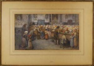 Hugh Cameron (Scottish,1835-1918) Original Watercolor Painting Signed 1879