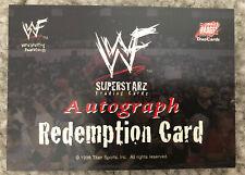 1998 WWF Superstarz Superstars Auto Redemption Wrestling Card Comic Images WWE
