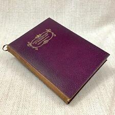1940 Vintage Leather Bound Book Alice In Wonderland Lewis Carroll Illustrated