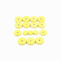 3 Pack Yellow Musical Instruments Flute  Replacement Pads Kit 48 Pcs Hole Close