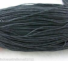 3 Meter Black Premium Cotton Waxed Cord Thread 2mm Dia(YC2mm131)