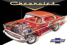57 Chevy Cutaway Poster 24 x 36 Vintage 1957 American Classic Car Print New