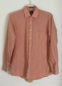 Arrow Classic Fit Wrinkle Free Men's Long Sleeve Button Up Shirt Sz 16 34/35