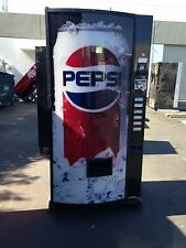Dixie Narco 360-6 Round Front Soda Vending Machine Pepsi/Coke W/Bill Made in USA