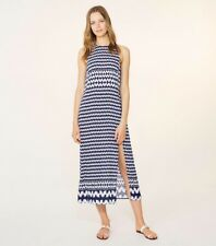 Tory Burch Windwell Midi Dress Cover-up Navy Blue, Beach Cruise 4 6 Size S $295