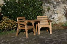 Solid Wood Garden Furniture / Patio Set Love Seat / Table Bench