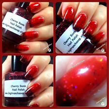 Big T Ranch Color Changing Thermal Nail Polish Red to Black - Cherry Bomb