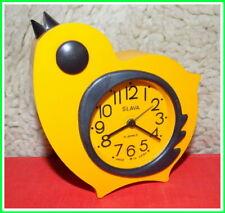 Vintage Mechanical Alarm Clock Slava 11 Jewels Russian USSR Soviet 1980's #8820