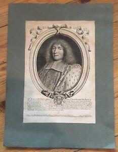 GRAVURE 17ieme XVIIe PORTRAIT Louis de BOUCHERAT Par NICOLAS II de LARMESSIN