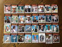 1986 BALTIMORE ORIOLES Topps COMPLETE MLB Team Set 32 Cards RIPKEN MURRAY!