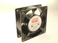 Dayton 4C548A Square AC Axial Fan 55 CFM, 115 V, 9W, 60/50 Hz, 1765 RPM - TESTED