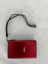Nikon COOLPIX S80 14.1MP Touch Screen Digital Camera Red Open Box