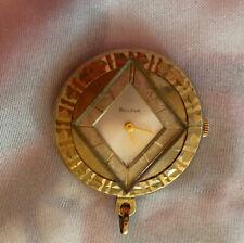 Swiss Made Bulova Mechanical Wind Up Necklace Pendant Watch Runs Free Shipping