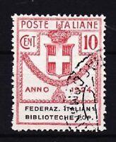 Italien Mi Nr. 34, gest., Porto Marke Biblioteche Popolari 1924, used