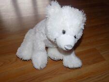 Build A Bear Workshop BAB White Plush Polar Bear Silver Snowflake Winter Edition