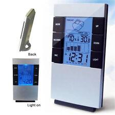 Digital LCD Wetterstation Hydrometer Thermometer Kalender Tischuhr Wecker 7114