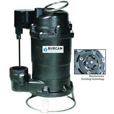 "Burcam Pumps 3/4 HP Cast Iron Residential Grinder Pump (1-1/4"") w/ Vertical F..."