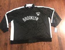 NWT Men's NBA Brooklin Nets Majestic Full Zip Jacket Size 5XL