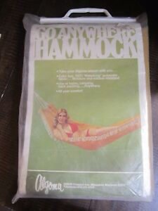 Go Anywhere Hammock by Algoma Net Co new old stock moisture and mildew resistant
