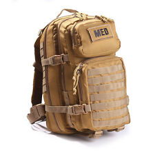 Tactical Trauma Kit #3 First Aid Kit w/ Backpack STOCKED Medic Survival Bag TAN+
