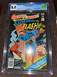 DC COMICS PRESENTS #1 CGC 8.0 Superman Flash