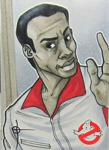 Cryptozoic GHOSTBUSTERS 1/1 Artist Sketch Card WINSTON ZEDDEMORE by Braojos