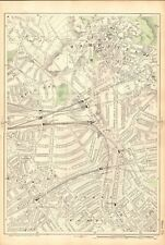 1906 LARGE MAP-BACON 9 INCH - HAMPSTEAD, St JOHNS WOOD