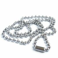 1X(Stainless Steel Bead Metal Bead Necklace Chain R9L8)
