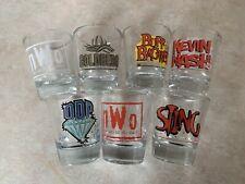 WCW Wrestling Shot Glass Collection Bar Glass WWE Sting nWo Nash Goldberg