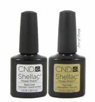 Creative Nail Design CND UV Polish Gel Coat SET DUO 2 pcs ~ BASE + TOP ~ SHELLAC